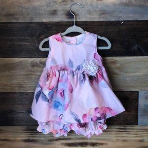 Floral Dress Size: 3-6 Months